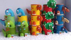 3rd Birthday Party For Boy, Festa Jurassic Park, Die Dinos Baby, Felt Food, Elmo, Crafts, Gabriel, Pom Pom Crafts, Easter Crafts