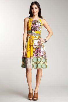 Printed Smock back dress