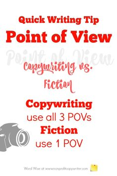 Point of view: for using point of view in copywriting and content writing vs. using point of view in fiction. Word Wise at Nonprofit Copywriter Easy Writing, Article Writing, Blog Writing, Writing A Book, Writing Tips, Writing Process, Writing Resources, Writing Services, Nonsense Words