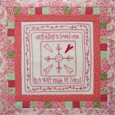 Block 3 - enfolding a loved on in a quilt made by hand