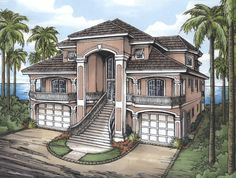 - 24078BG | 1st Floor Master Suite, CAD Available, Den-Office-Library-Study, Drive Under Garage, Florida, Low Country, Mediterranean, PDF | Architectural Designs
