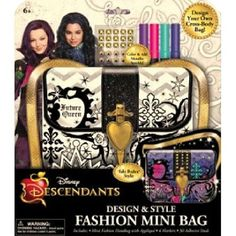 Disney Descendants Design & Style Fashion - Color and design your own mini fashion handbag