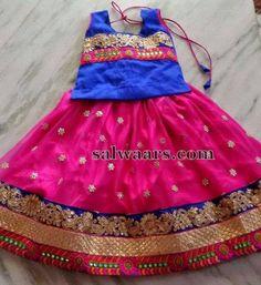 Pink Stones Work Lehenga - Indian Dresses Kids Party Wear, Kids Wear, Kids Ethnic Wear, Kids Lehenga, Kids Frocks, Lehenga Designs, Pink Stone, Baby Girl Dresses, My Princess