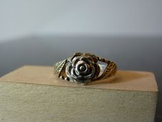 Vintage Silver Rose Flower Ring by FourSailAccessories on Etsy, $14.00
