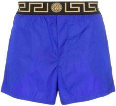 058e2dbf34 Versace Logo Waist Swim Shorts - Farfetch