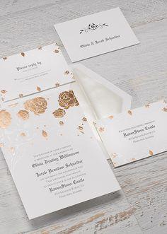 Sleeping Beauty Roses and Romance Invitations
