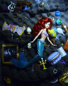 The Little Mermaid | Ariel and Flounder in the Grotto | Disney Princess doll