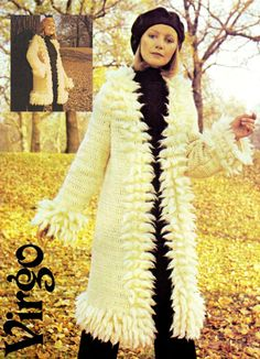 Your place to buy and sell all things handmade Crochet Coat, Crochet Winter, Vintage Knitting, Vintage Crochet, Long Winter Coats, Crochet Fashion, Vintage 70s, Retro, Vintage Inspired