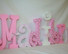 Nursery Letters Baby Name Pink And By Woodenwonders