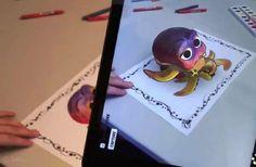 Voir les coloriages d'enfants devenir des personnages en 3D et prendre vie sur tablette, c'est un rêve qui sera peut-être possible un jour grâce à Disney ! Le géant de l'animation y travaille, et c'est tout à fait captivant.