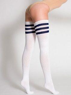 #2: American Apparel Stripe Thigh-High Sock.
