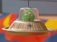 Make your own Flying Saucer from everyday objects!