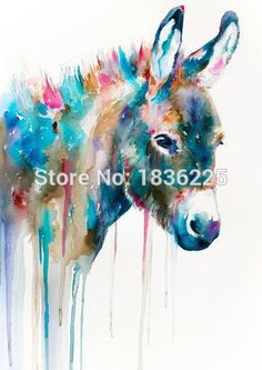 Wall Art without Framing – PRINT ONLY (Watercolor Wildlife)