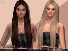 -Available in 41 colors  Found in TSR Category 'Sims 4 Female Hairstyles'