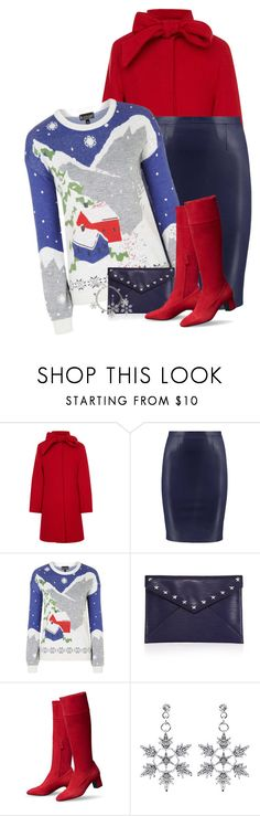 """""""Christmas Village Sweater"""" by majezy ❤ liked on Polyvore featuring Oscar de la Renta, Topshop and Rebecca Minkoff"""