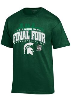 7033ee333 Champion Michigan State Spartans Green 2019 NCAA Final Four Short Sleeve T  Shirt - 14754295