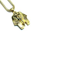 http://everythinghiphop.fr/departements/bijoux/all-jewellery/gold-king-tut-pendentif-plaque-or-18-carats-flat-franco-box-chain.html #saintvalentin #love #valentinesday #valentin #cadeau #pharaon #bijoux