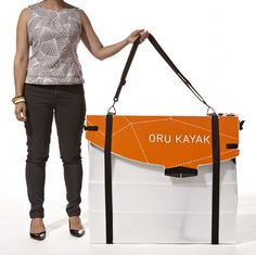 """This is a kayak in a bag. Sea levels are rising people! I want this! Via design sponge, designed by Anton Willis. I give you the """"Oru Kayak."""""""