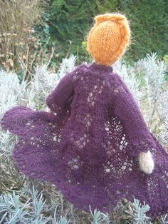 little knitted doll with beautiful cardi