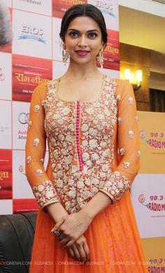 lovely orange kurti
