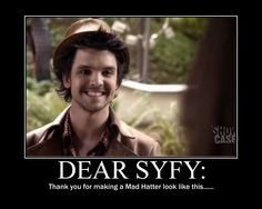 SyFy Alice - Google Search ^^^yes, thank you SyFy, for finally making a Mad Hatter hot!