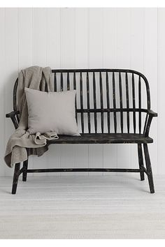 Hanover Bench Black Provincial Home Living