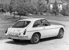 1966 MGB GT press photograph