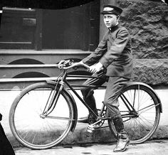 Western Union boy on a bicycle - 1925