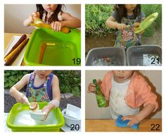 Washing vegetables, washing dishes, washing table Montessori un-sensory bin How To Wash Vegetables, Good Excuses, Washing Dishes, Maria Montessori, Teaching French, Sensory Bins, Children, Blog, Young Children