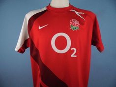 Authentic England 2007/09 Rugby Alternative/Away Shirt Size L Nike