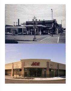 The former Goodall Gas Station (photo from the 1960's) was on the southwest corner of Pleasant and Broad Streets in Beloit.  Ace Hardware built a new store at this location in 2008, moving from their former location which is now part of Riverside Park.