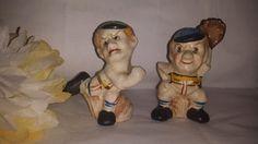 ***SOLD*****Vintage Set of Ceramic Nashville, Tennessee Baseball Player Salt & Pepper Shakers Japan by JunkYardBlonde on Etsy