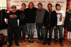 "Members of Bones Brigade @ Sundance  Steve Caballero, Lance Mountain, Stacy Peralta, Mike McGill, Tommy Guerrero, Rodney ""The Mutt"" Mullen"