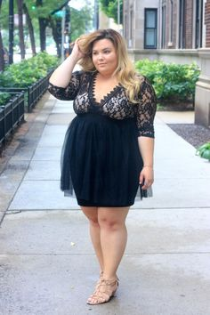 I get real with my readers about self love and having confidence. As a plus size woman, it's not an easy task to accomplish.This lace dress with a plunging neckline definitely gives me a confidence boost. Get the OOTD details on NatalieintheCity.com