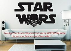 Wall Decals Star Wars Darth Vader Decal Vinyl Sticker Home Decor Bedroom Dorm Gym Nursery Art Murals Ms715 *** Click on the image for additional details. Note: It's an affiliate link to Amazon