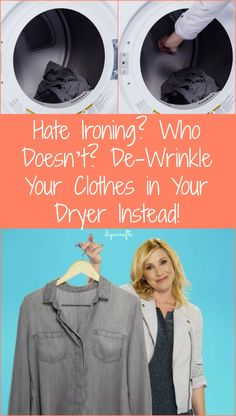 Hate Ironing? Who Doesn't? De-Wrinkle Your Clothes in Your Dryer Instead! | See more DIY and life hacks videos here http://gwyl.io/