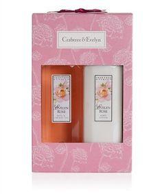 Crabtree & Evelyn  Evelyn Rose Bath & Shower Gel & Body Lotion Duo gift set #CrabtreeEvelynEvelynRoseBathShowerGe