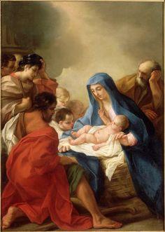 Scuola romana, Adorazione dei pastori, XVIII sec., musée Fesch, Ajaccio