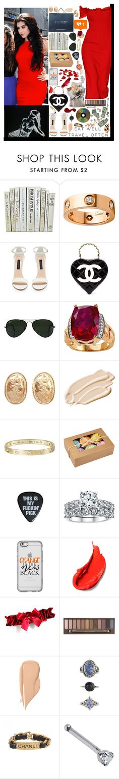 """""""I heard you're in love with your ex, yeah that hurt me I'll admit but now I'm over it.♥"""" by loretta-mccoy ❤ liked on Polyvore featuring Dolce&Gabbana, Cartier, Forever New, Chanel, Ray-Ban, Lab, Stila, Casetify, Poste and Urban Decay"""