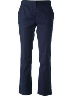 NWT! DIANE Von FURSTENBERG Cropped Tailored Trousers Linen Pants Sz 14 Navy Blue #DianevonFurstenberg #CaprisCropped