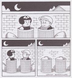 "An Ernie Bushmiller ""Nancy"" cartoon drawn in response to a letter to Bushmiller from Samuel Beckett - Yes, that Samuel Beckett."