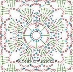 Transcendent Crochet a Solid Granny Square Ideas. Inconceivable Crochet a Solid Granny Square Ideas. Crochet Mandala Pattern, Crochet Motifs, Crochet Blocks, Granny Square Crochet Pattern, Crochet Diagram, Crochet Stitches Patterns, Crochet Chart, Crochet Squares, Crochet Granny