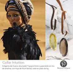 Preciosas Indigenas Collar Intuition | colgante de cuarzo ahumado ó topacio limón con tira de antelina y hoja de lilium en plata de ley  #preciosasindigenas #collares #colgante #antelina  #cuarzo #topacio #platadeley #estilobohochic #hechoamano #artesanal #piedraspreciosas #natural ☼ ☼ Preciosas Indígenas Joyas ☼ ☼ para descubrir nuestras joyas visita nuestra #tiendaonline http://www.preciosasindigenas.com ☼