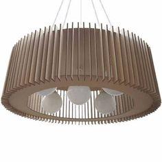Lampara Colgante Madera Mdf 70 Cm Diametro Diseño Moderno - $ 1.500,00 en Mercado Libre
