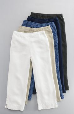 pants > easy linen cropped pants at J.Jill