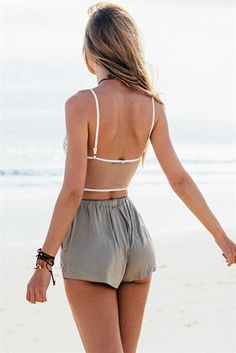 Khaki Peak Shorts | SABO SKIRT