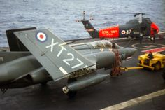 HMS Ark Royal Blackburn Buccaneer 809 Naval Air Squadron and Wessex Search and Rescue Helicopter 1972 Navy Aircraft, Military Aircraft, Native American History, American Civil War, Blackburn Buccaneer, Hms Ark Royal, Soviet Navy, South African Air Force, British Aerospace