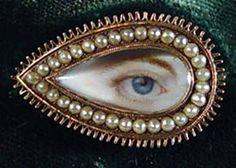 A Fine English Georgian tear-drop Eye Miniature, Circa 1800.