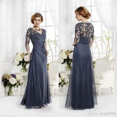 2014 New Lace Chiffon Floor Length Mother Of Bride Dresses Long Sleeve Formal Bridal Evening Party Gowns Plus Size 2015 Mother Dress Of The Bride Mother Of Bride Dress Designers From Gaogao8899, $114.98| Dhgate.Com