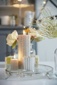 Lene Bjerre - SPRING 2013.  CANDLE WICKER candles and MOLLY tealight.